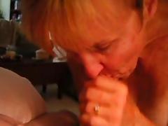 Experienced Granny Sucking Cock