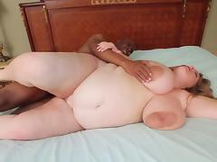 Pregnant BBW with giant tits and areolas tube porn video