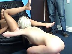 Hot lesbians turn on their casting agent