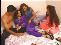 Horny hot ass couple bang hardcore foursome doggystyle