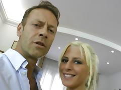 Rocco Siffredi shows a blonde girl how good rough sex can feel