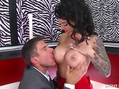 Red lipstick is super hot on Christy Mack in a hot anal video tube porn video