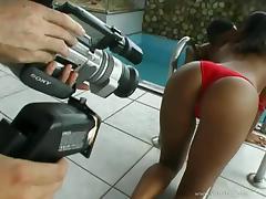 Hot black butt beauty Delza gets nailed anal in ebony fuck tube porn video