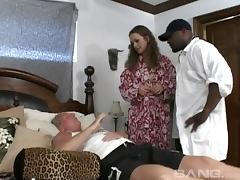 When her husband can't fuck her a hung black stud does