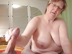 homemade, chubby granny wanks cock tube porn video