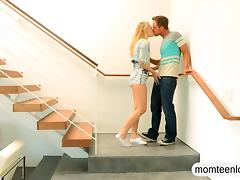 Stepmom Angel Allwood and teen cutie Dakota James hot ffm tube porn video