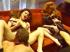 Jacqueline, Leanna Foxxx, Steve Drake in lesbian sex and a threesome from hot porno 1980 porn tube video