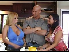 Ava and Harmony in big boobs thresome