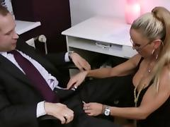 Boss, Ass Licking, Assfucking, Big Tits, Blonde, Blowjob