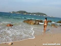 African, African, Asian, Beach, Bikini, Black