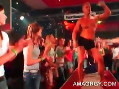 Redhead sluts gets banged hard at CFNM orgy