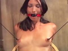 Bound, BDSM, Bound, Nipples, Small Tits, Big Nipples