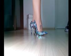 Boots, Amateur, Boots, Heels, Nylon, Shoes