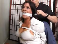 My husband cant find me tied up and gagged like this porn tube video