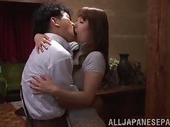 Wild Asian housewife with nice big tits enjoying a hardcore doggy style fuck tube porn video