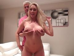 His curvy blonde lover is a delight riding dick and face