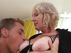 A horny granny gets a nice hard pounding and loves every inch