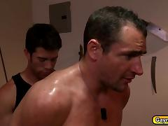 Gay punishment before having a blowjob and gay anal fucking porn tube video