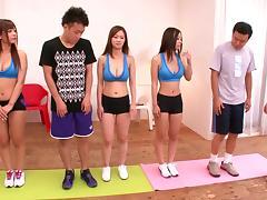 Fitness, Asian, College, Fucking, Hardcore, Japanese