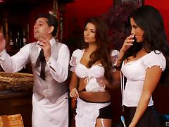 A classy French restaurant turns into a whorehouse in seconds