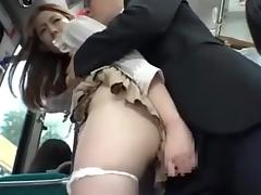 Big Tits, Asian, Big Tits, Bus, Teen, Voyeur