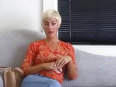 Cynthia sucks dick and gives blowjob before taking cum in mouth
