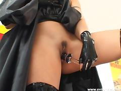 Slutty cowgirl in a hardcore pov blowjob and sex toy insertions