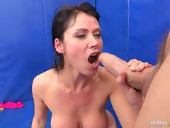 Sporty milf Eva Karera has big cock anal with a hunk tube porn video