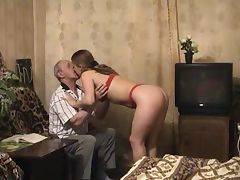 Young Blond Fucks Grandpa porn tube video