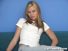 Lovely Blonde In Jeans Takes Her Interview In Reality tube porn video