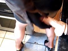 milking big dildo over my leather skirt tube porn video