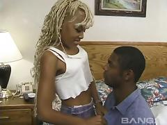 Deep penetration for this amateur blonde ebony hooker