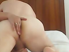 Fucking  my gf and her finger my wazoo tube porn video