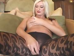Mature blonde fucks with black man at home tube porn video