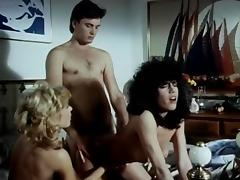 Lois Ayres, John Leslie, Nina Hartley in classic sex video tube porn video