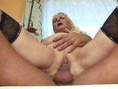 Fat Blonde Granny German tube porn video