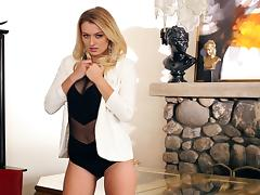 Solo Natalia Starr is her usual stunning self in a black teddy