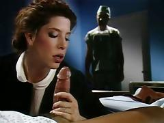 Siobhan Hunter, John Leslie, Peter North in best classic sex video with threesome and DP