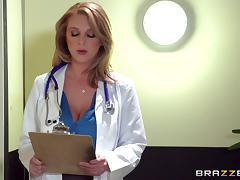 Doctor, Babe, Big Tits, Blowjob, Couple, Cum in Mouth