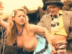 Sunny Lane in a compilation of her roles in a vintage style movie