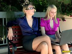 Lovely lesbian invites her girlfriend over for some hot pussy licking action