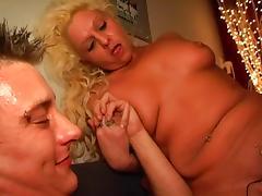 slutty blonde milf fucks her man tube porn video