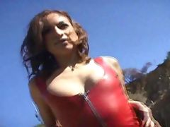 Hot babe wearing tight dress tease tube porn video