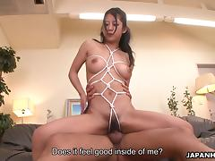 Japanese pussy is warm and wet as his cock plunges inside