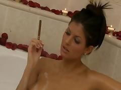 Bath, Bath, Bathing, Bathroom, Brunette, Kinky