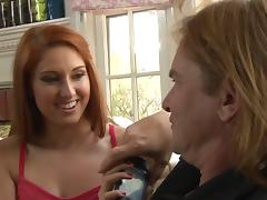 Redhead wants to feel that hot cum splashing on her asshole