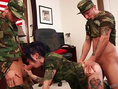 Army, Army, Banging, Blowjob, Group, Horny