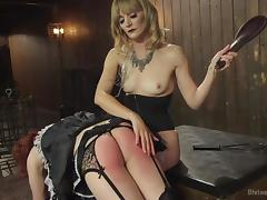 pansy maid gets the paddle tube porn video