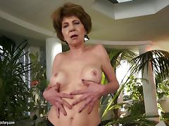 A horny granny throats a cock then gets fucked hard tube porn video