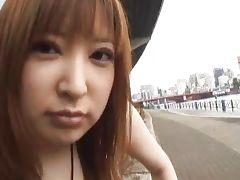 Runna Sakai Asian chick shows off cute